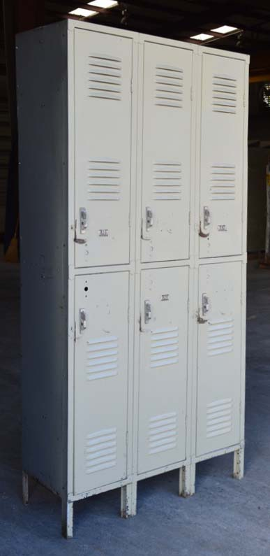 Double Tier Tan Republic Storage Lockers